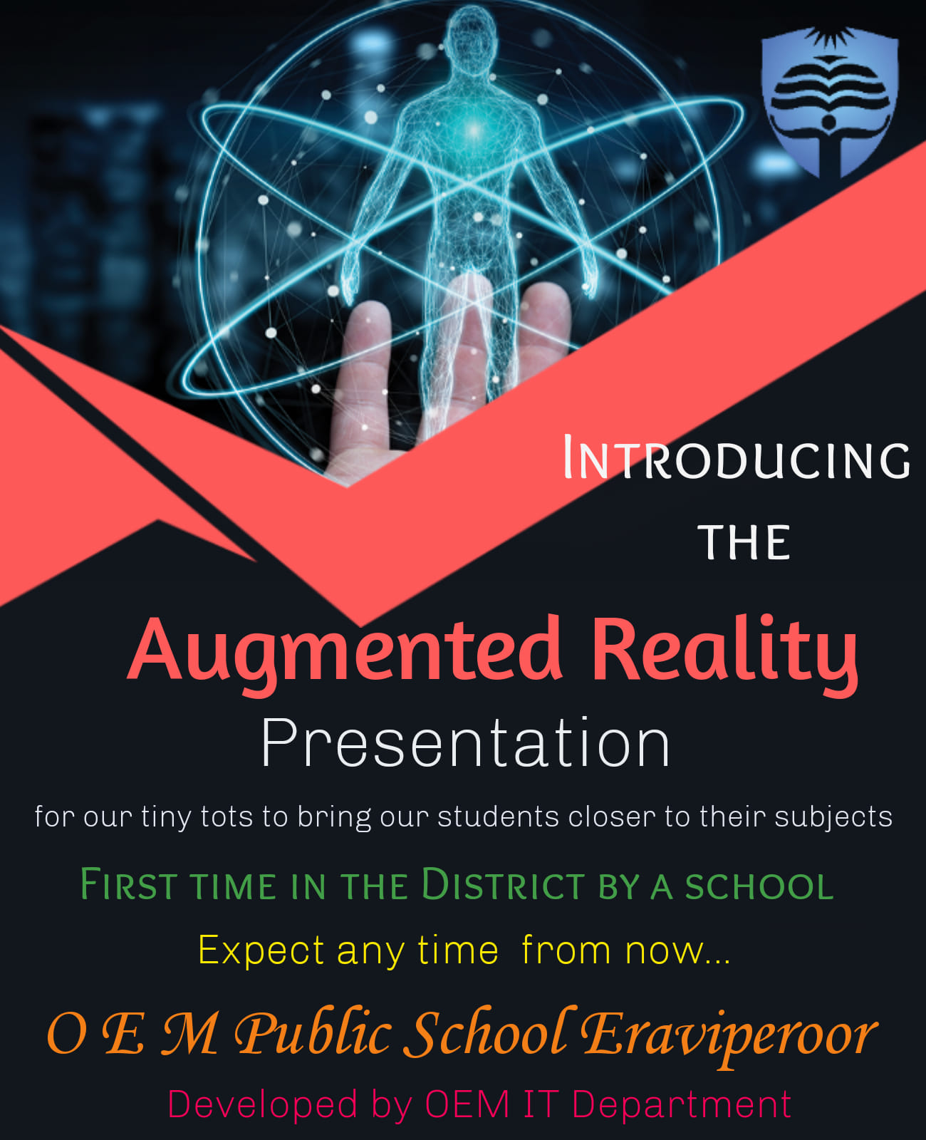 AUGMENTED REALITY- 1ST TIME IN DISTRICT